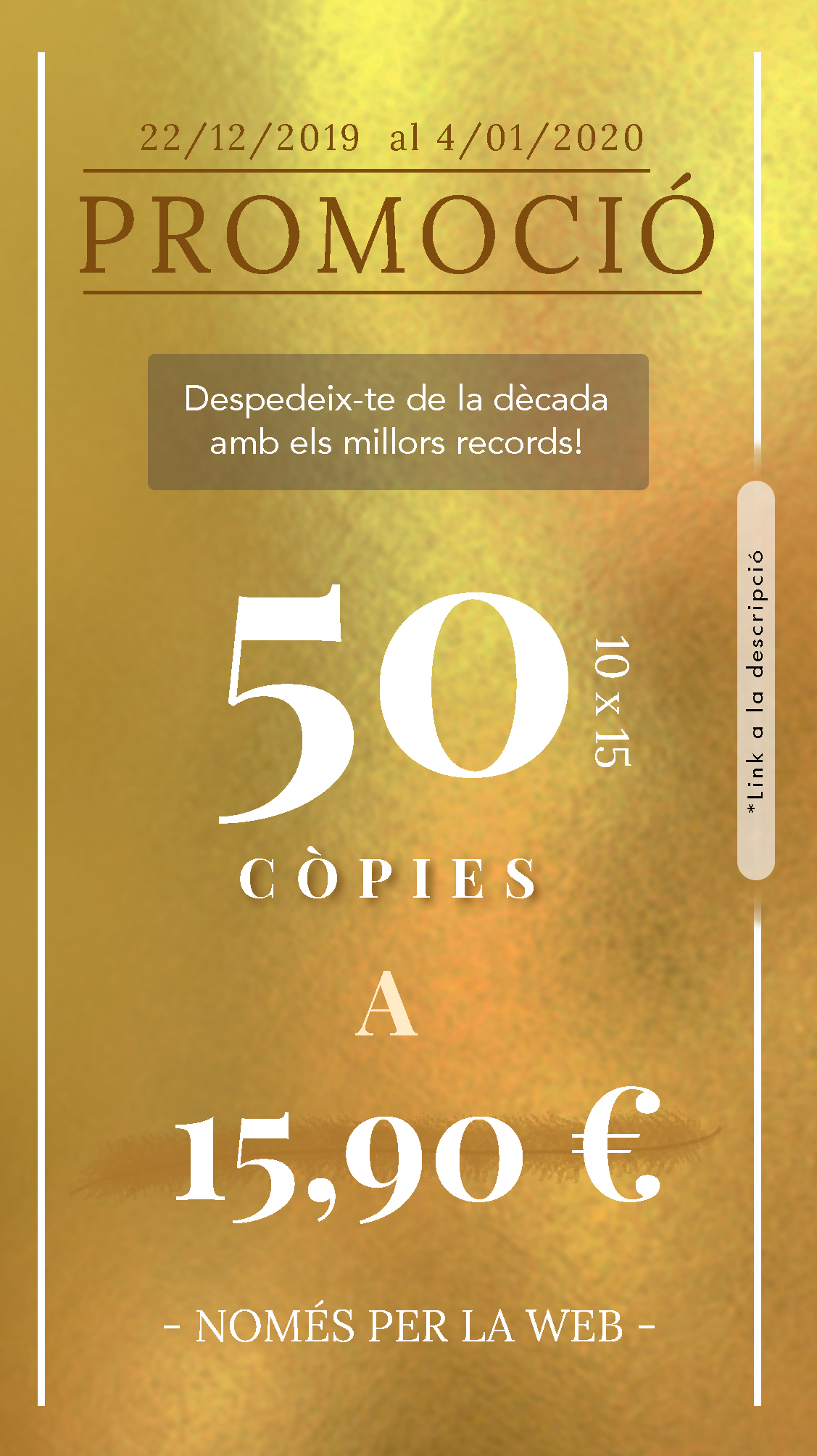 Promo Cap d'Any 50 còpies